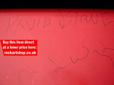 David Byrne & Tina Weymouth Autographs