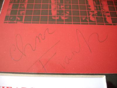 Chris Frantz Autograph