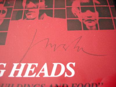 Jerry Harrison Autograph