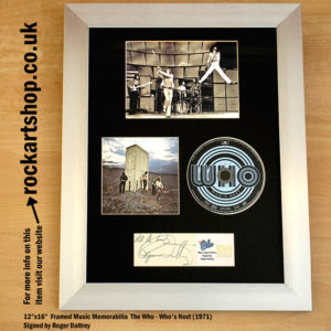 THE WHO WHO'S NEXT CD SIGNED BY ROGER DALTREY AUTOGRAPHED