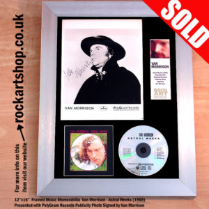 VAN MORRISON SIGNED ASTRAL WEEKS CD PHOTO AUTOGRAPHED