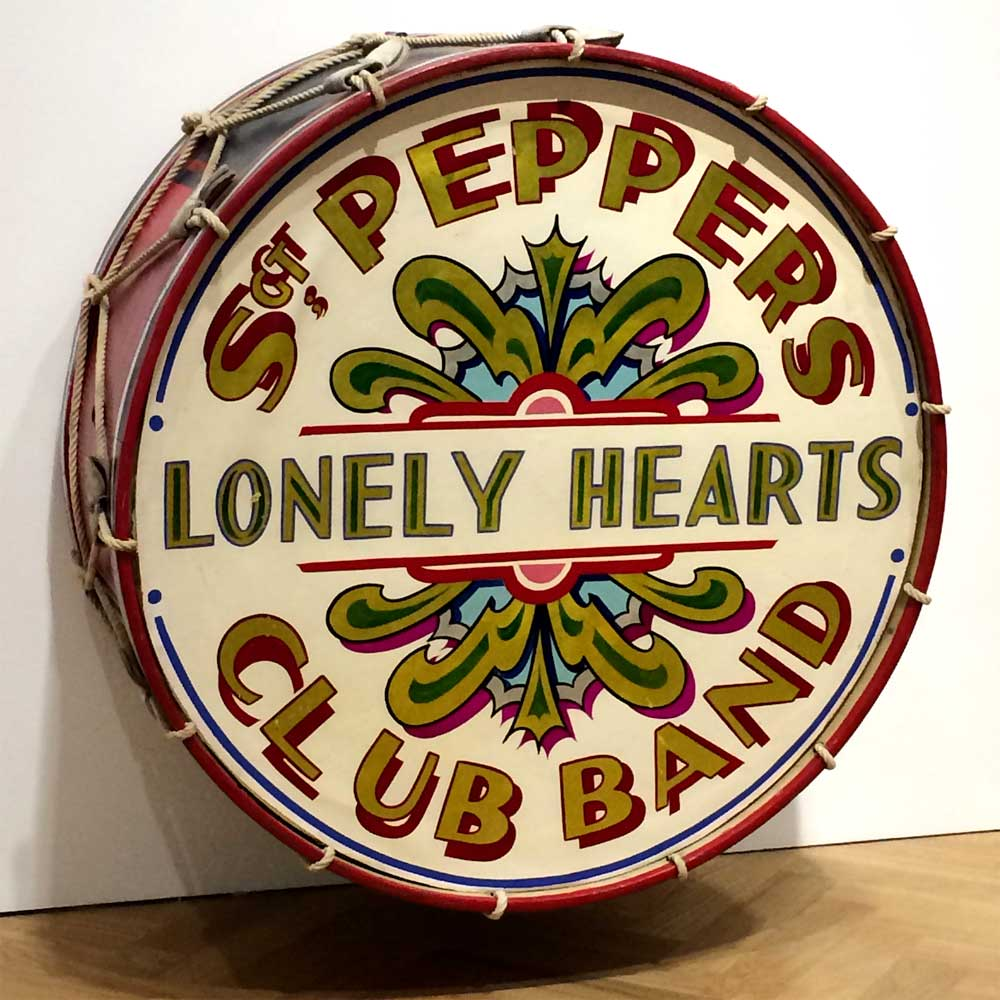 The Beatles' Sgt Pepper Drum Skin