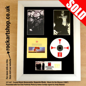 DEPECHE MODE MUSIC FOR THE MASSES SIGNED ANDY FLETCHER