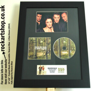 DEACON BLUE FULLY SIGNED A NEW HOUSE FRAMED MEMORABILIA