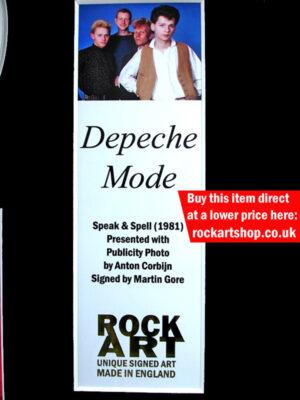 Depeche Mode Signed Memorabilia