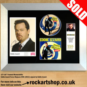 EDDIE IZZARD SIGNED FORCE MAJEURE DVD FRAMED AUTOGRAPH