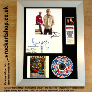 ERASURE THE INNOCENTS AUTOGRAPHED VINCE CLARKE ANDY BELL