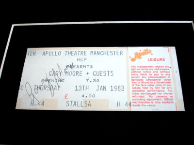 GARY MOORE AUTOGRAPHED TICKET