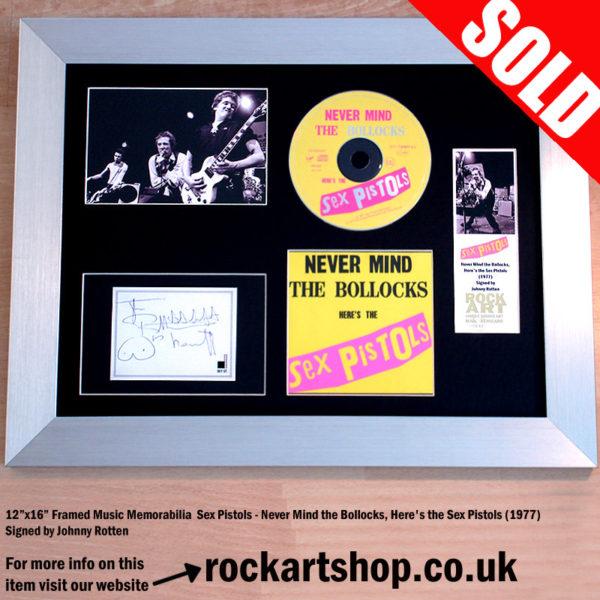 SEX PISTOLS JOHNNY ROTTEN SIGNED NEVER MIND THE BOLLOCKS CD