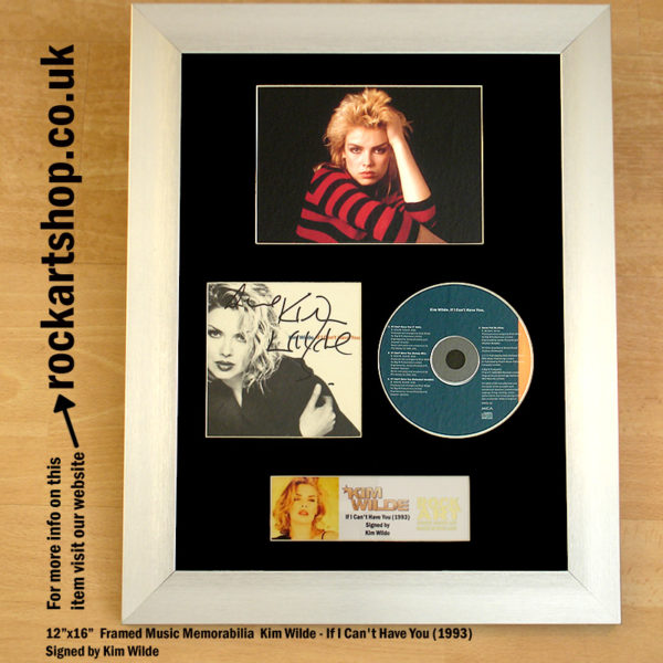 KIM WILDE IF I CAN'T HAVE YOU SIGNED CD FRAMED MEMORABILIA
