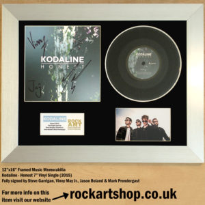 KODALINE HONEST FULLY SIGNED BY 4 VINYL SINGLE AUTOGRAPHED