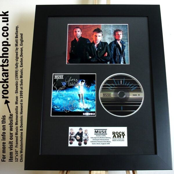 MUSE SHOWBIZ FULLY SIGNED MATT BELLAMY CHRIS DOMINIC 1999 DEVON