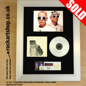 PET SHOP BOYS SIGNED BEFORE CD AUTOGRAPHED NEIL TENNANT