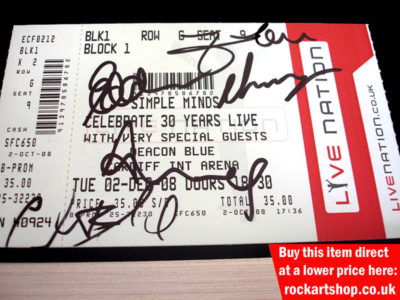 Simple Minds Fully Signed Ticket