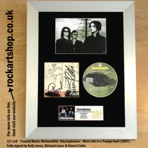 STEREOPHONICS AUTOGRAPHED KELLY RICHARD JONES STUART CABLE