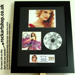TAYLOR SWIFT SPEAK NOW CD AUTOGRAPHED HYDE PARK 2015 FRAMED