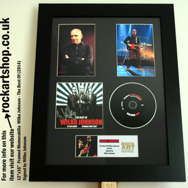 WILKO JOHNSON SIGNED AUTOGRAPHED FRAMED MUSIC MEMORABILIA