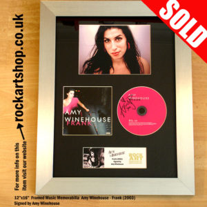 AMY WINEHOUSE SIGNED FRANK CD AUTOGRAPHED FRAMED
