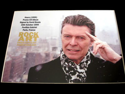 Bowie Signed Memorabilia