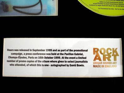David Bowie Music Memorabilia ROCK ART