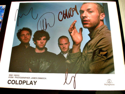 Coldplay Fully Signed EMI Publicity Photo
