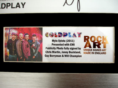 Coldplay Memorabilia by ROCK ART