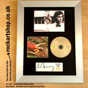 BRYAN FERRY ROXY MUSIC SIGNED STRANDED CD AUTOGRAPHED