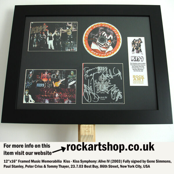 KISS FULLY SIGNED ALIVE IV CD GENE SIMMONS +PAUL+PETER+TOMMY