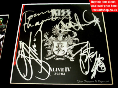 Kiss Fully Autographed CD