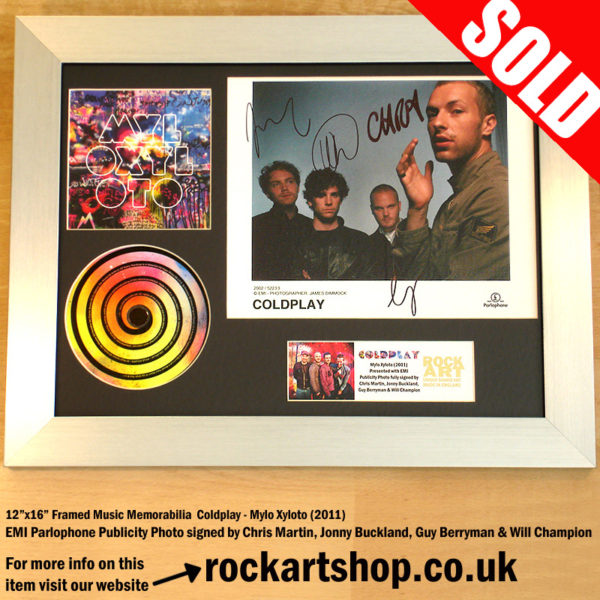 COLDPLAY MYLO XYLOTO FULLY SIGNED CHRIS MARTIN JONNY+GUY+WILL