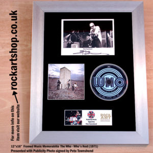 THE WHO WHO'S NEXT CD SIGNED BY PETE TOWNSHEND AUTOGRAPHED