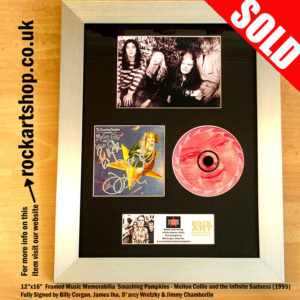 SMASHING PUMPKINS FULLY SIGNED CD BILLY+JAMES DARCY+JIMMY