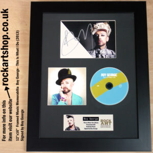 BOY GEORGE THIS IS WHAT I DO SIGNED AUTOGRAPH MEMORABILIA