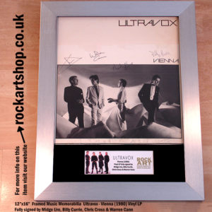 ULTRAVOX 1980 VIENNA VINYL SIGNED MIDGE +CHRIS +BILLY +WARREN