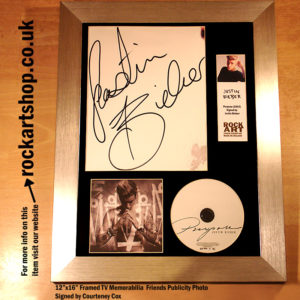 JUSTIN BIEBER SIGNED PURPOSE CD AUTOGRAPHED FRAMED MEMORABILIA