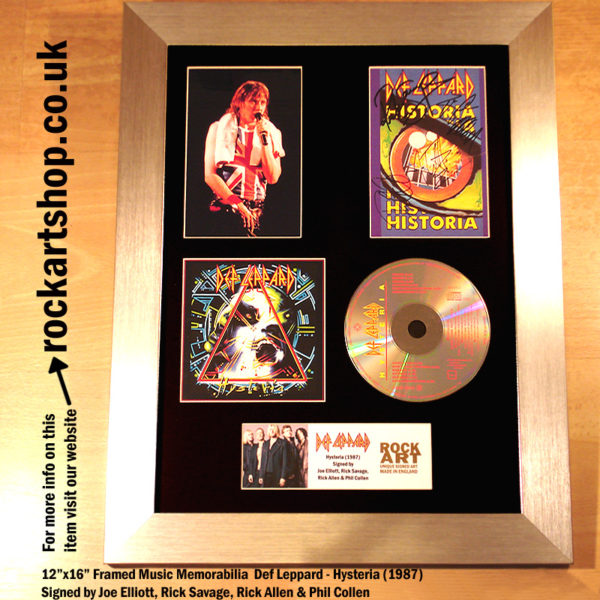 DEF LEPPARD HYSTERIA CD AUTOGRAPHED JOE ELLIOT +RICK+RICK+PHIL