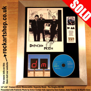 DEPECHE MODE ANTON CORBIJN PHOTO SIGNED DAVE MARTIN ANDY