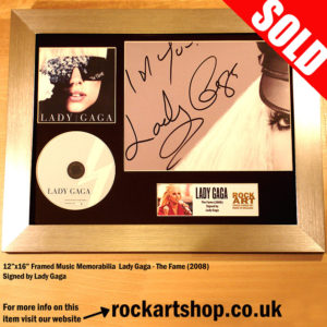 LADY GAGA THE FAME CD AUTOGRAPHED FRAMED SIGNED MEMORABILIA