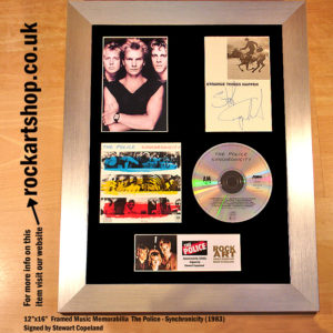 THE POLICE SYNCHRONICITY SIGNED BY STEWART COPELAND MEMORABILIA