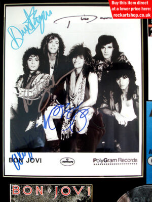Bon Jovi Fully Signed Photo