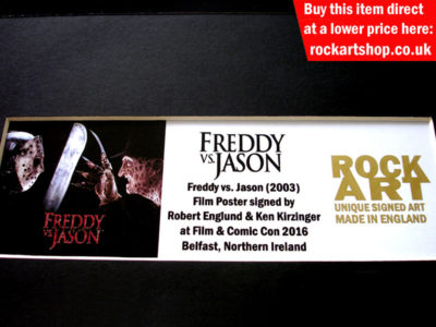 Freddy vs Jason Film Memorabilia