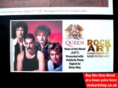Queen Signed Music Memorabilia
