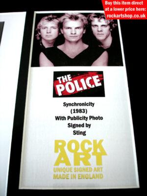 THE POLICE STING SIGNED MUSIC MEMORABILIA