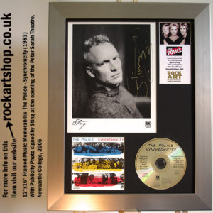 THE POLICE SYNCHRONICITY SIGNED BY STING NEWCASTLE 2005