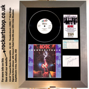 AC/DC THUNDERSTRUCK VINYL SIGNED BY BRIAN JOHNSON