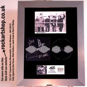 ARCTIC MONKEYS AM FULLY SIGNED ALEX TURNER+MATT +JAMIE+NICK