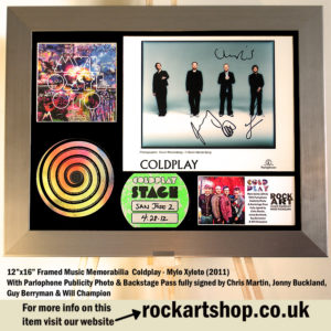 COLDPLAY MYLO XYLOTO AUTOGRAPHED CHRIS MARTIN JONNY GUY WILL