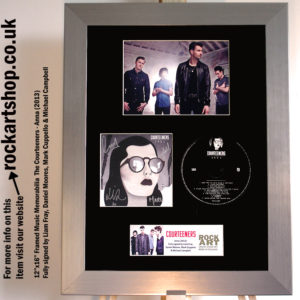 THE COURTEENERS FULLY SIGNED ANNA CD FRAMED LIAM FRAY