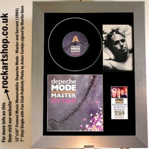 DEPECHE MODE MASTER & SERVANT SIGNED MARTIN GORE AUTOGRAPHED