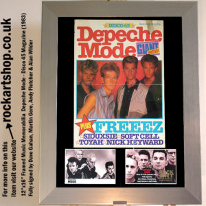 DEPECHE MODE FULLY SIGNED 1983 DAVE GAHAN +MARTIN +ANDY +ALAN